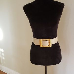 Paloma Picasso Belt Leather Gold Tone S Vntg